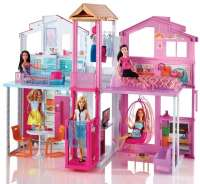 Nukkekodit : Barbie Malibu Townhouse - Barbie Dukkehus DLY32