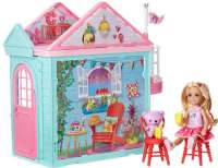 Nukkekodit : Barbie Club Chelsea Playhouse - Barbie dukke DWJ50